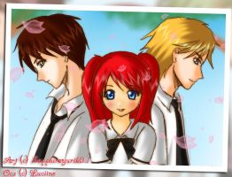 Lucine, Seiichi and Akira by Kaleidoscope-Crystal