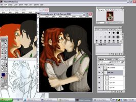 WIP: Sev x Lily by sunni-sideup