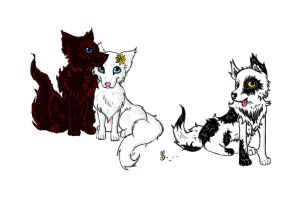 Mitsuko x Farfello: the Pups by BoguBee