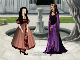 Young Snow White and The Evil Queen by Kailie2122