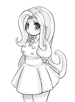 Fluttershy [Sketch] by CheloStracks
