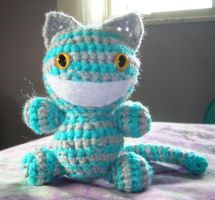 Blue and Grey Cheshire Cat by FuzzyViper