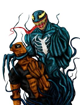 DEADPOOL vs VENOM by suspension99