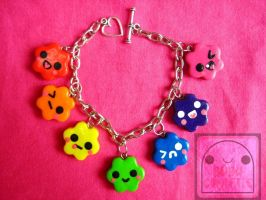 Rainbow Candy Cuties Bracelet 2 by efeeha