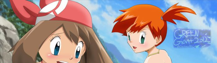pokemon may and misty (FULL ON TUMBLR) by greengiant2012
