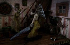 Silent hill diorama Photoshoot II by vrlovecats