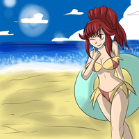 Anna Beach by MegaGundamMan