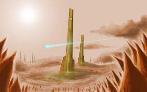 Monoliths of the Tvo by Demonox