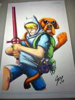 Jake and Finn 11x17 by ColePeterson