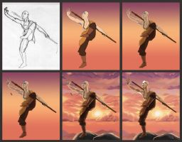 Avatar Aang Process by sympathized