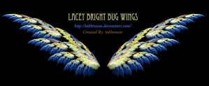 Lacey Bright Bug Wings - Fractal by mkbrouse