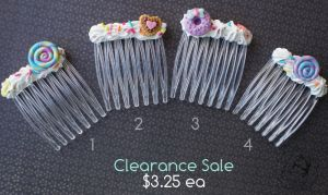 Yummy Barrettes for sale by colourful-blossom