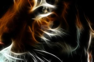 fractal tiger by koox