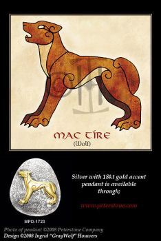 Wolf - Celtic Animals by Illahie