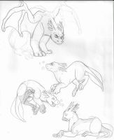 Tadpole Dragons Doodles by Tattletail