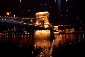 Budapest snow fall by grunner