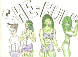 She-Hulk by JokerHarley2345