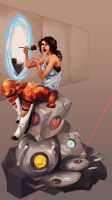 Portal: Clever Girl by scriptKittie