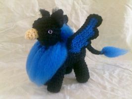 Black and Blue Gryphon by hollyann