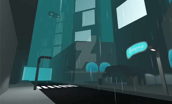 HoloCity first iteration by erickn