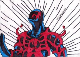 Symbiote Taking over Spidey 2099 by ChahlesXavier