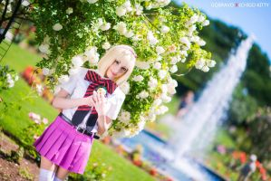 Shiemi in the Rose Garden by IchigoKitty