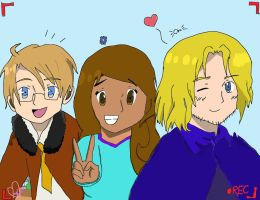 Request: France, America, and Eve by Hetalia-Forever-123