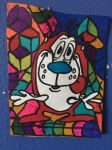 Stimpy Art Colorful Design Drawing  by NWeezyBlueStars23