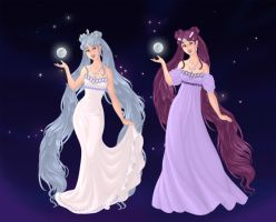 Queen and Princess of the Moon by LadyIlona1984