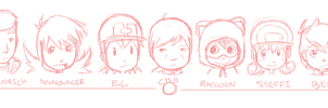KB characters by head shape by CubeWatermelon