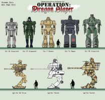 German mech lineup by Rob-Cavanna