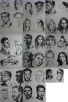 charcoal pencil portraits part 1 by matt-radway