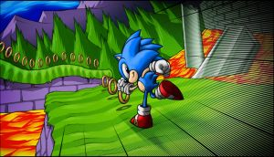 Sonic Marble Zone by AIBryce