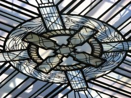 Stained Glass Ceiling Centre by amormimosse