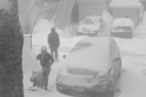 2015 January Blizzard, Snow Blowing 5 by Miss-Tbones