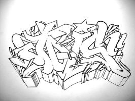 jois_sick_wildstyle_bw_outline by jois85