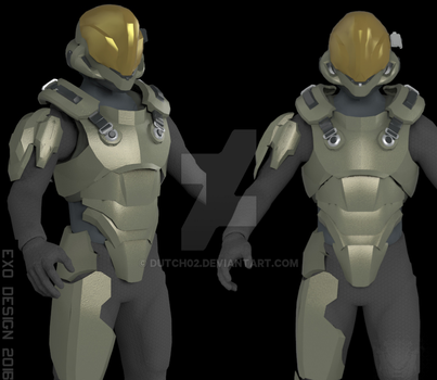 Semi Powered Infiltration (SPI) armor concept by Dutch02