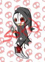 Cute Grim Reaper Adoptable Auction [CLOSED] by WhiteMaze