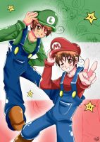 APH: Italian Plumbers by mino-the-cat