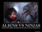 ALIENS VS NINJAS! by cwpetesch