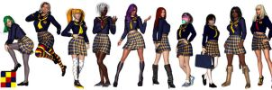X-School Girls by Sailmaster-Seion