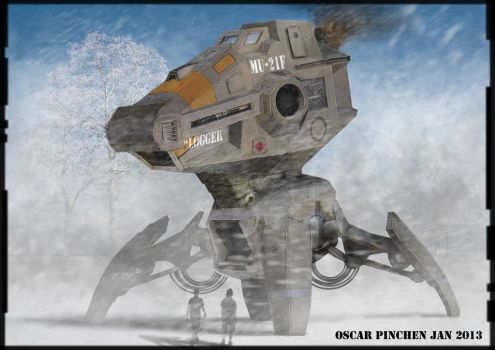 Snow Mech Speed Painting by LucidDesignFX