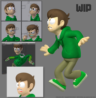 EDD in 3D - Rigging WIP by Knitti