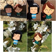 Clay Cuties Kimiko and Jaclyn by SculptedCreations