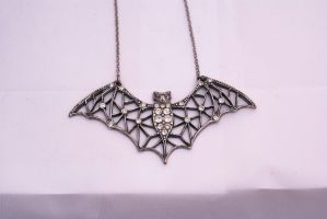 Bat Necklace 2 by wintersmagicstock