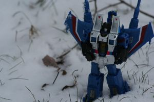 Thundercracker and Some Snow by Dellessanna