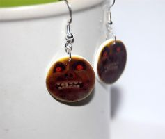Majoras Mask Moon earrings by knil-maloon