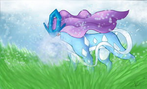Suicune's Ice Beam by SREiDo
