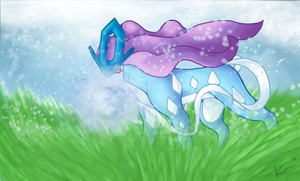 Suicune's Ice Beam by RedEidolon
