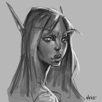 Blood elf by Nuxxe